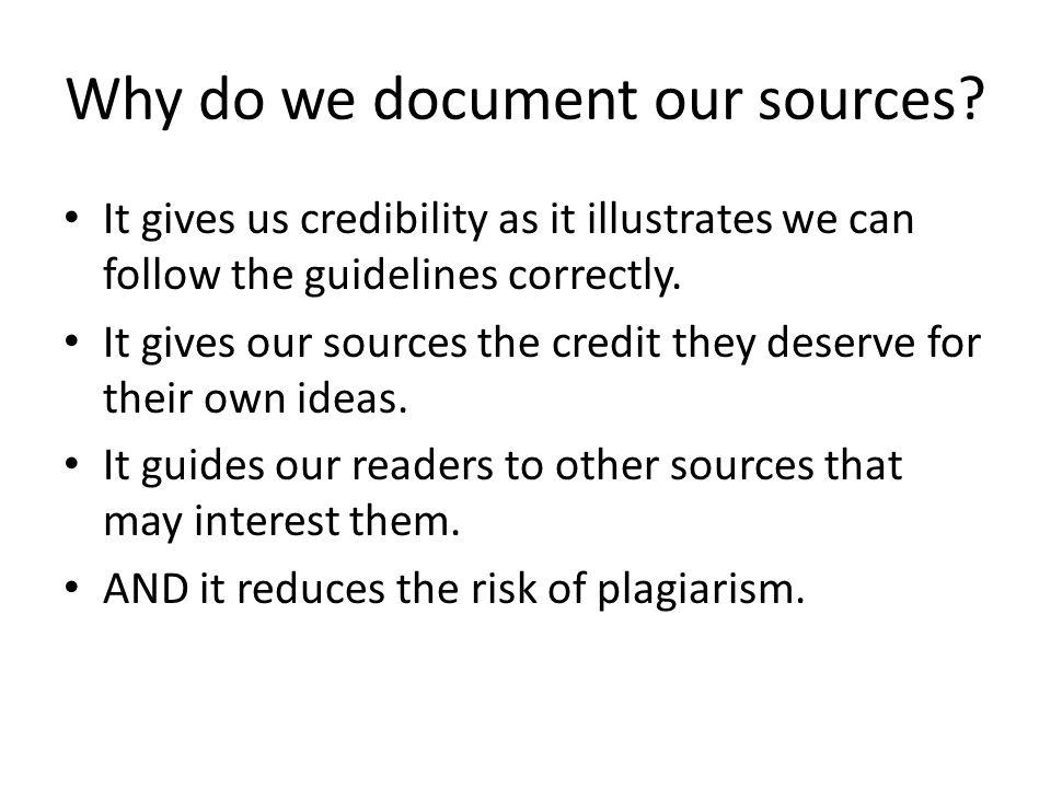 When do we cite sources?