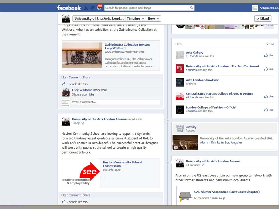 Line between Private and Professional is blurred Useful to promote shows & events Is a Facebook page professional enough.