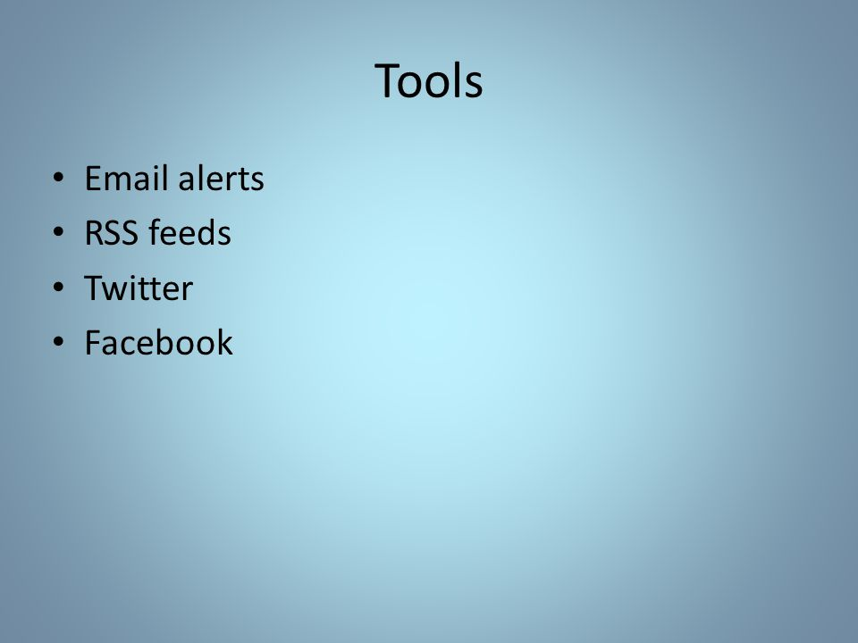 Which Tools for Which Sources.