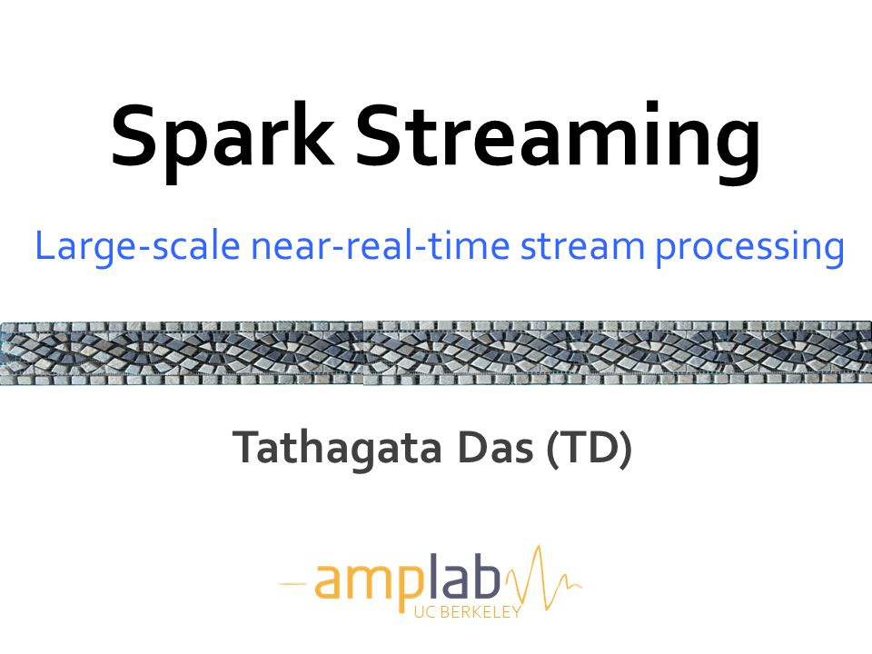 Motivation  Many important applications must process large data streams at second-scale latencies – Check-ins, status updates, site statistics, spam filtering, …  Require large clusters to handle workloads  Require latencies of few seconds 2
