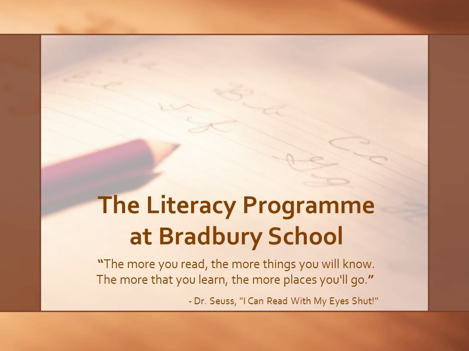 Beliefs and Values in Literacy Literacy is fundamental to learning, thinking and communication, and permeates the whole curriculum Literacy is the major connecting element across the curriculum Applied across subject areas Applied throughout the transdisciplinary programme of inquiry