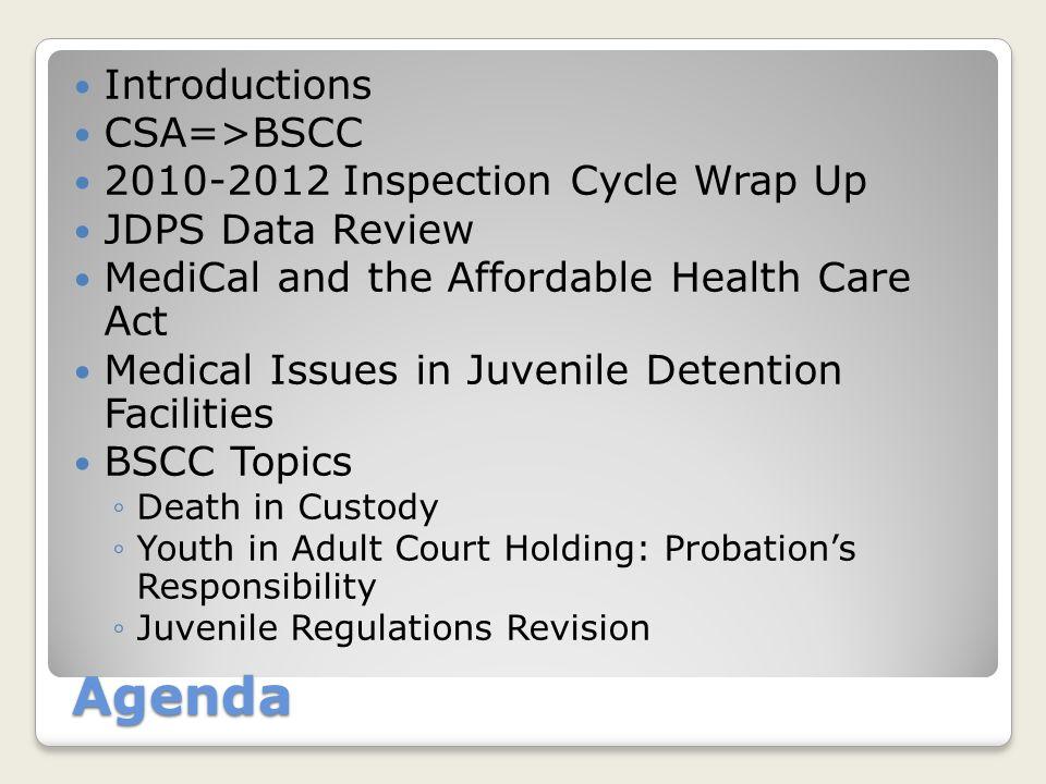 CSA BSCC ... an agency is born...