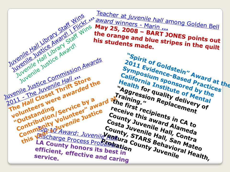 7 Honored for Helping Crash Victims in Front of San Luis Obispo County Juvenile Hall Seven county employees received honors from the SLO County BOS for their swift action in helping people who were hurt in a traffic accident outside Juvenile Hall on Jan.