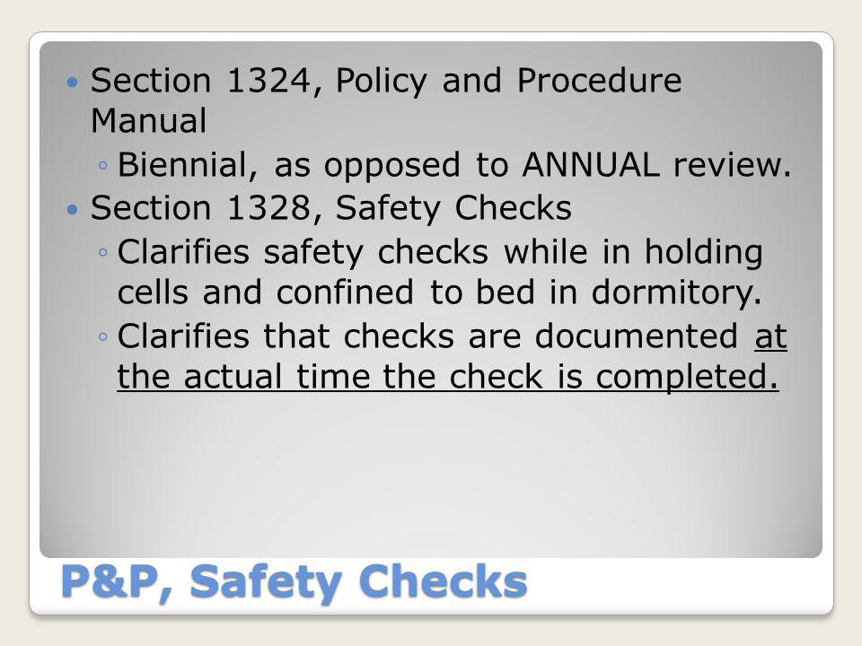 Section 1329, Suicide Prevention Program NEW REGULATION.