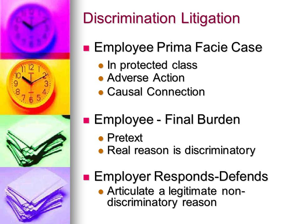 Risky Business Employment litigation continues to increase in numbers and $$$ Employment litigation continues to increase in numbers and $$$ More cases More cases Average EEOC litigation award: $263,945 Average EEOC litigation award: $263,945 Additional Costs Additional Costs Attorneys (Plaintiff & Defendant) Attorneys (Plaintiff & Defendant) Our (employer) time Our (employer) time Personal Liability for Managers Personal Liability for Managers In some cases In some cases