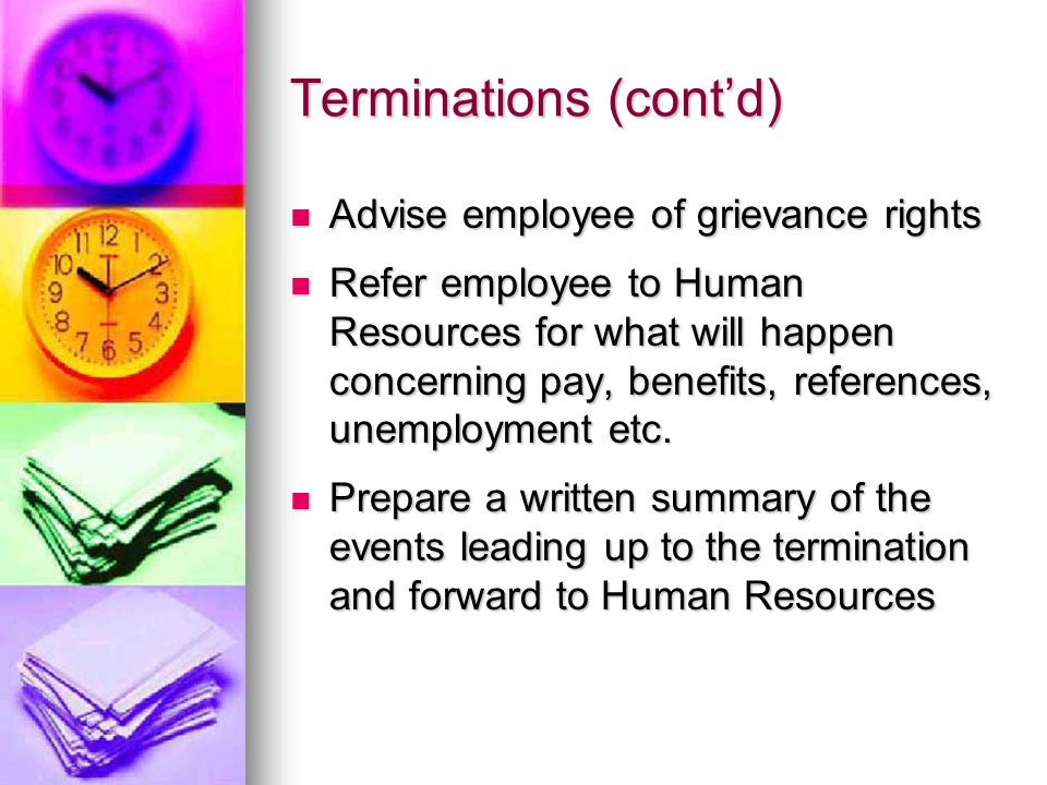 Terminations--Written Reason …an employer shall upon written request of the employee give the employee the written reasons for the termination of that person's employment.