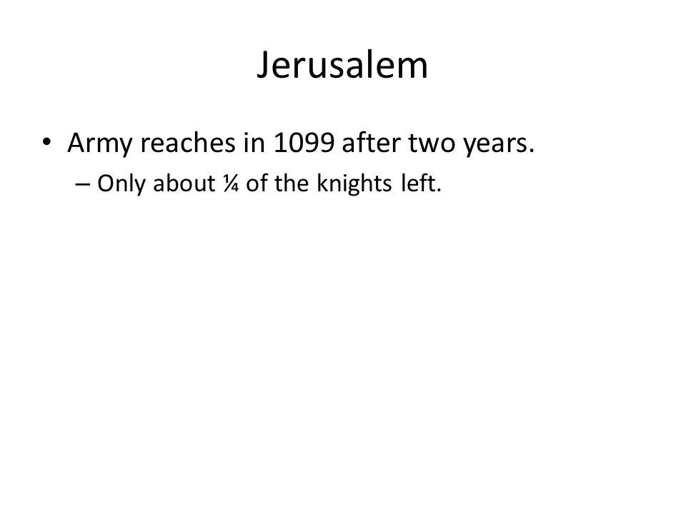 Jerusalem Peter Desiderius' vision July 15, 1099 the men broke through.