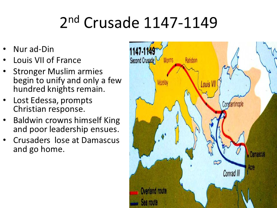 Results Battle of Hattin (1187) Much of Crusader States lost, including Jerusalem in 1187.