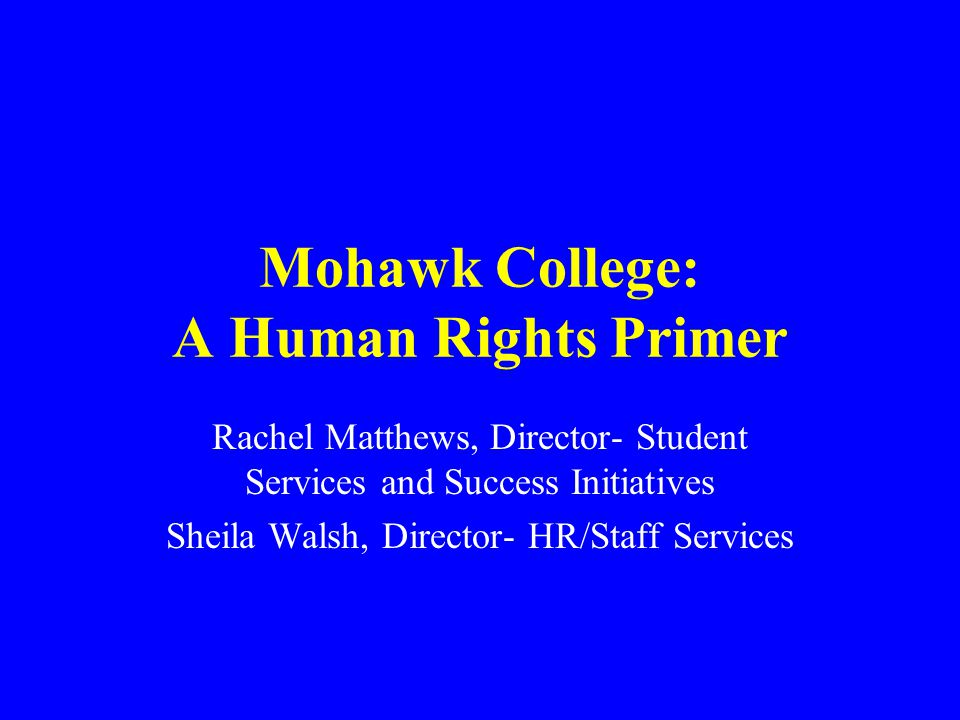 Human Rights Seminar Overview of College policy and procedures Understanding obligations What is and what is NOT harassment Duty to accommodate Code violations Liability Promoting a respectful working and learning environment