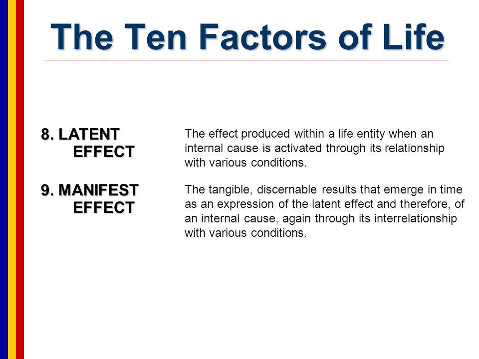 The Ten Factors of Life 10.