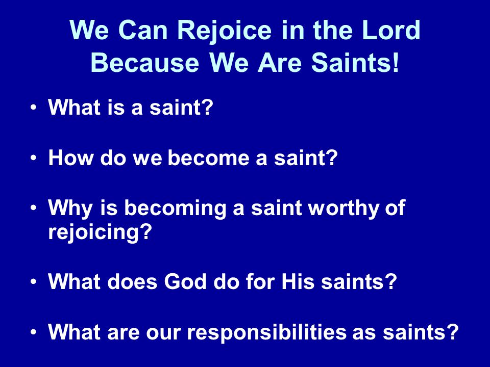 What Is a Saint.