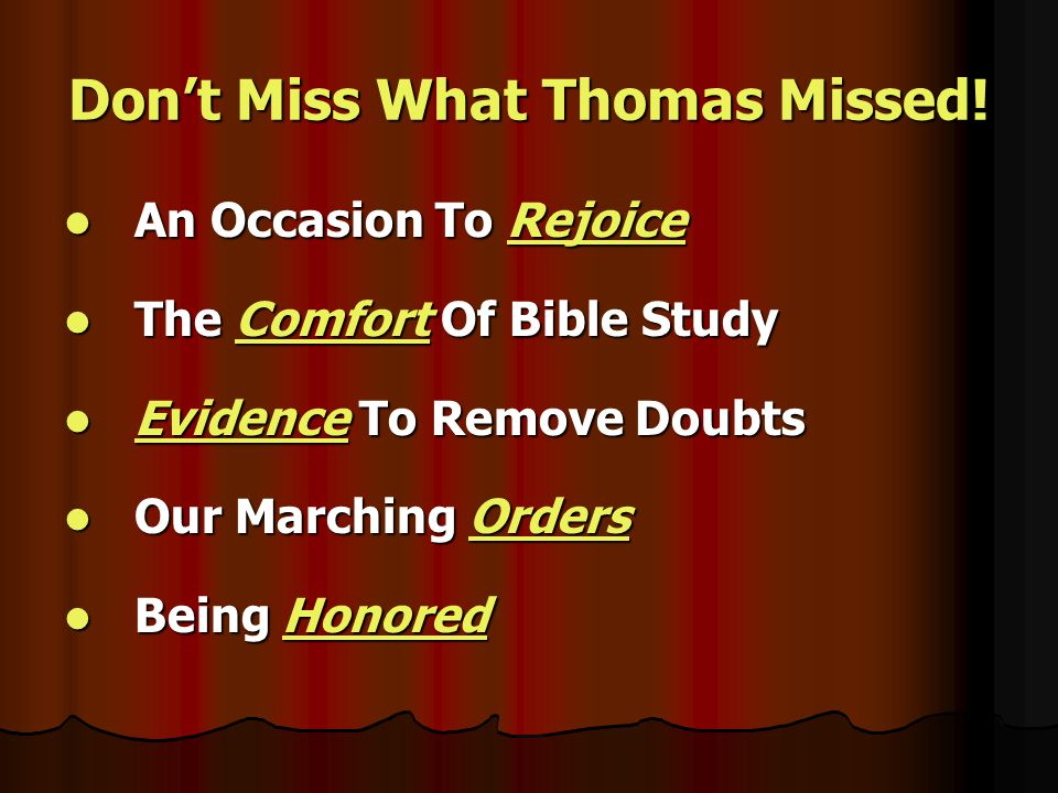 Don't Miss God's Offer Of Salvation In Christ.