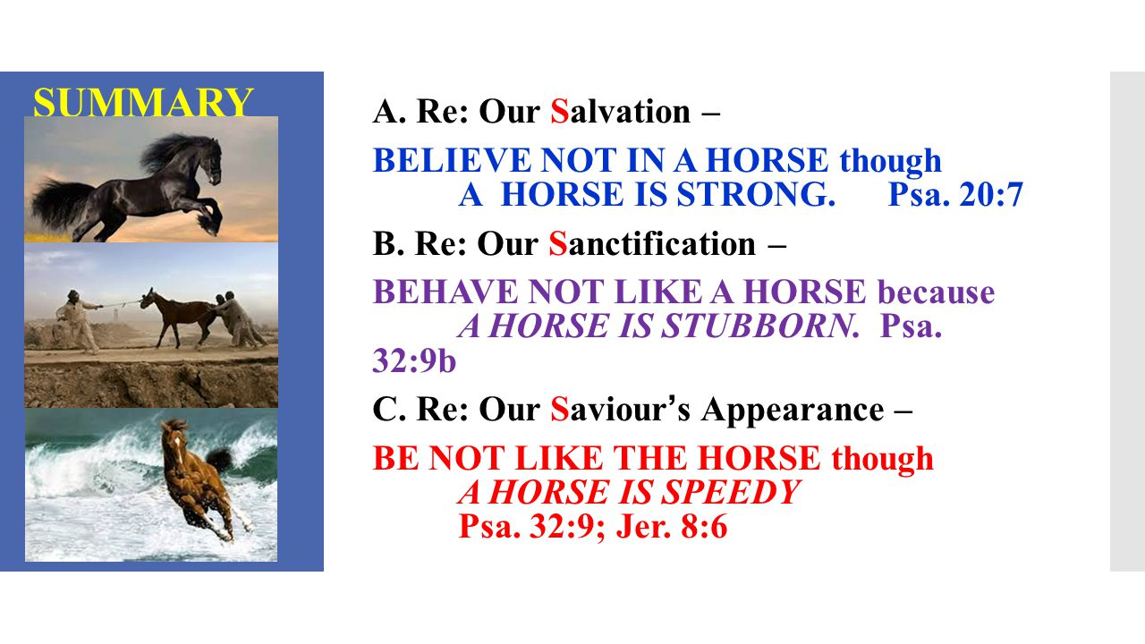 CONCLUSION BE ALWAYS REMEMBERING THE LORD OF HOSTS.