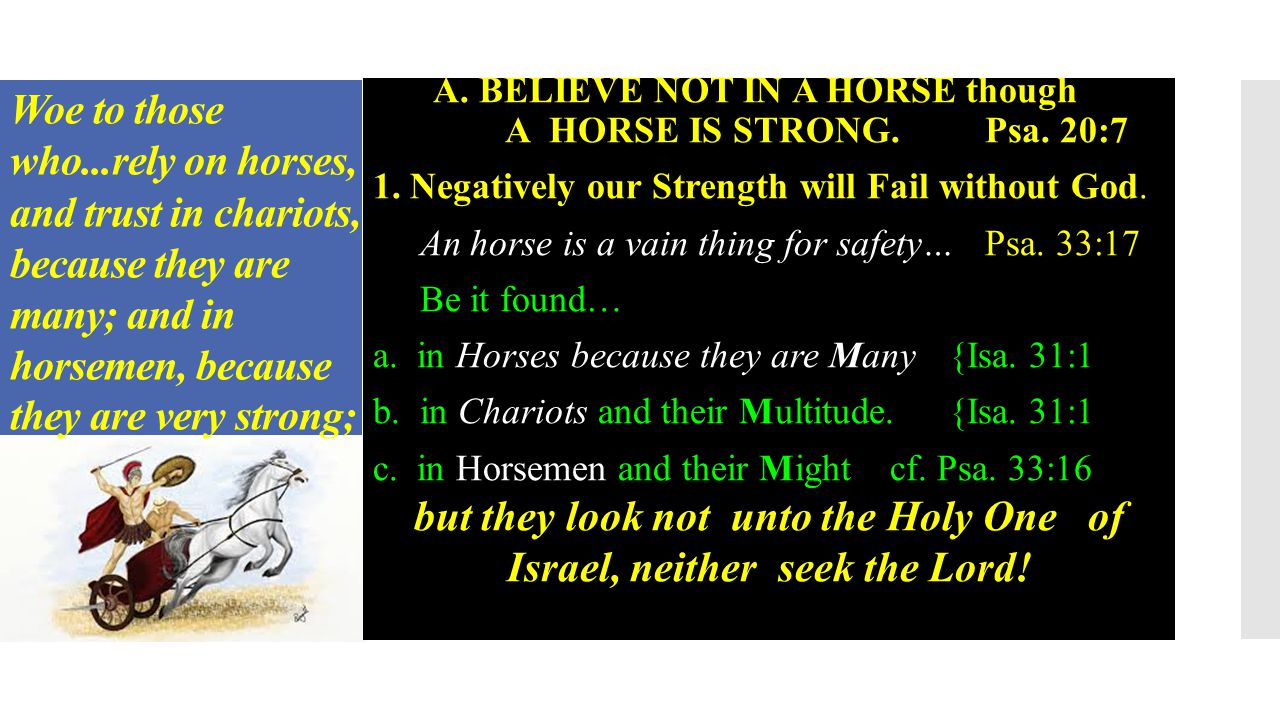 1.Negatively our Strength will Fail without God. Psa.