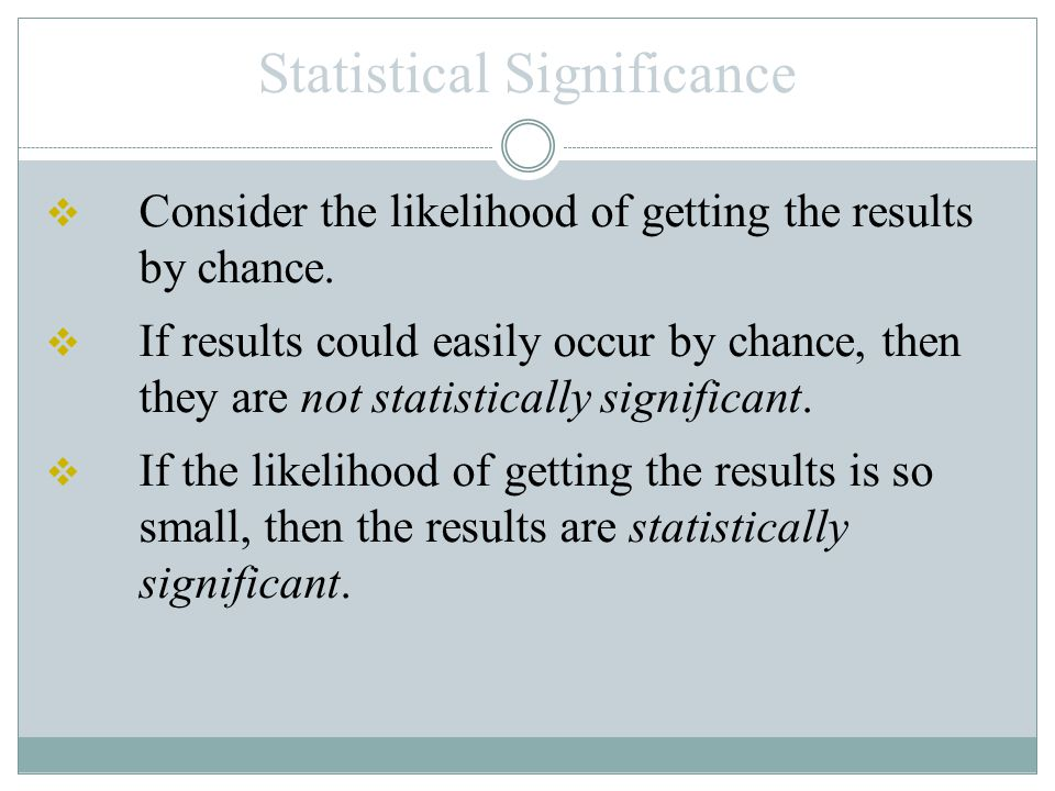 Example 2: Form a conclusion about statistical significance.