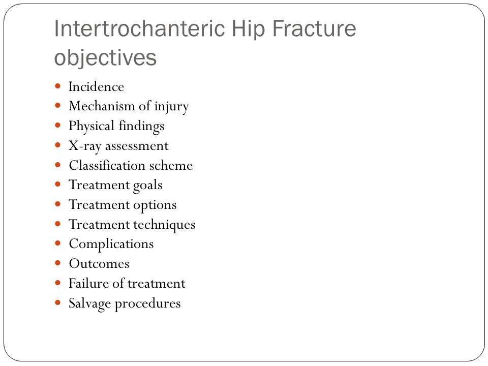 Intertrochanteric femur From the extra-capsular femoral neck To inferior border of the lesser trochanter