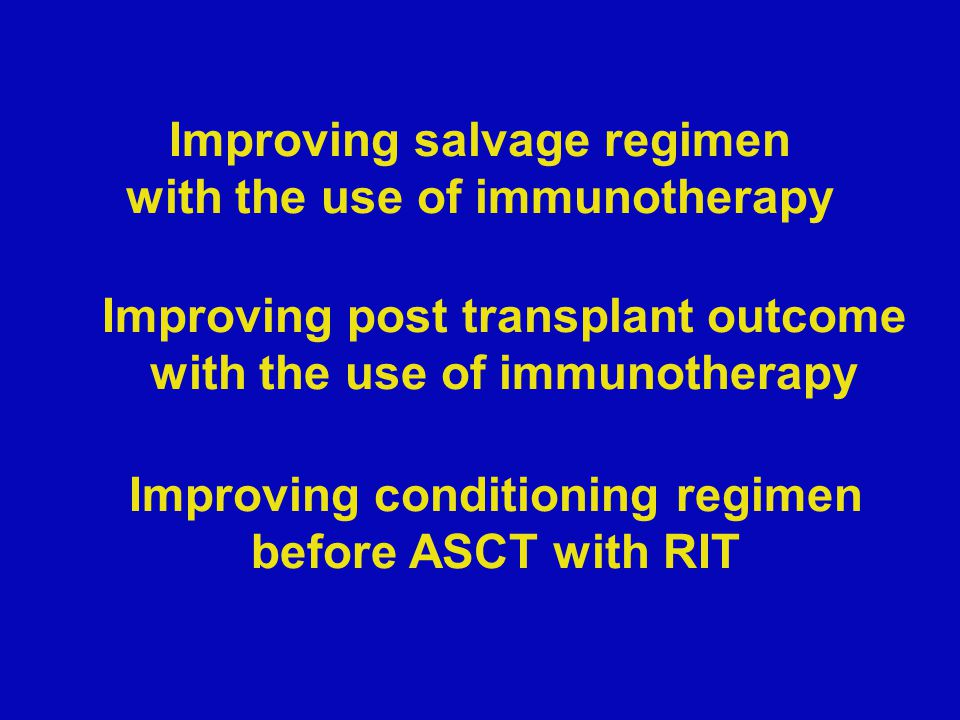 RegimenDisease statusnORR/CRASCT performed Survival in ASCT patients R-ICEDLBCL3678%/53%70%67% OS at 2 years R-ICEAggressive B NHL875%/ 50%100% R-various (mostly ICE) DLBCL59Not given100%81% OS at 2 years R-ICEAggressive B NHL1189%/67%27% R-DHAPAggressive B NHL5362%/32%38%Median 20.4 months OS DHAP/VIM/DHAP ± R Aggressive B NHL22575%/46% versus 54%/35% ± R, respectively 63% versus 46% ± R, respectively At 2 years FFS 50%versus 24% in favour of R (p<.001) R-ESHAPDLBCL/MCL/HD24 (15 = DLBCL) Not given79%DFS = 53% R-ESHAPDLBCL/MCL6100%/67%Not done R-ESHAPAggressive B NHL26 92 %/46%88% R-ESHAPAggressive B NHL1856%/28%38% R-ICE or R-DHAPDLBCL1060%/10%Not done R-ASHAPAggressive B NHL2075%/45%25% R-DHAOXNHL33 (10 were HIV+) 70%/27%Not stated R-ICE or R-DHAP followed by HDT (BEAM) and ASCT ± R maintenance Relapsed DLBCL39663%/38%52% (n= 204)49% OS at 3 years Gisselbrecht C.