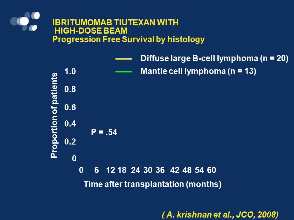 IBRITUMOMAB TIUXETAN ( 90 Y-Ibritumomab Tiuxetan) COMBINED BEAM AND ASCT IN 23 AGGRESSIVE NON-HODGKIN'S LYMPHOMAS PET + BEFORE ASCT (A.