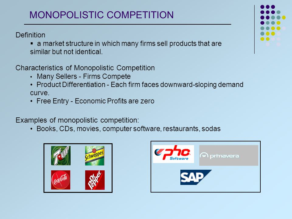 A firm has its own product portfolio and its own market demand.