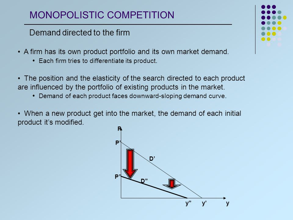 The market power allows the company to practice prices above the marginal costs (MC), and act like a monopolistic firm.