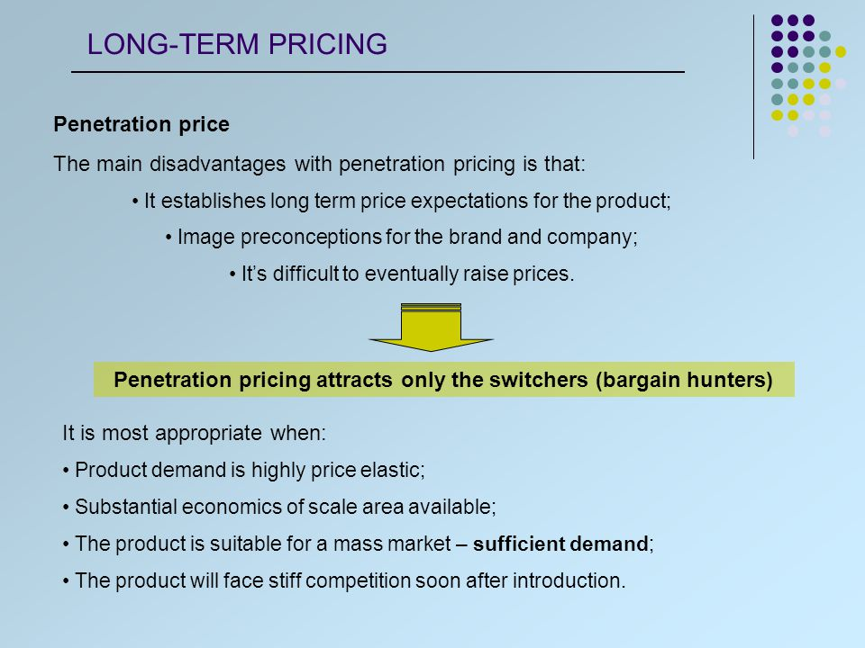 Penetration price This strategy is particularly adequate to introduction of products of regular buying, because the difference between them and the existent products is not obvious.