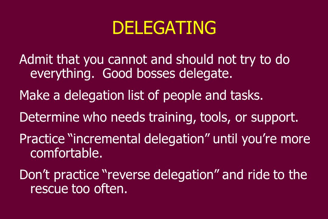 MONITORING If the secret to good management is delegation, then the secret to good delegation is in building a strong follow-up system.