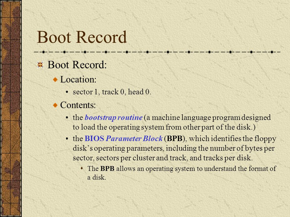 The Bootstrap Program In a PC, when a machine is turned on, a routine called The Power-On Self Test (POST) verifies all hardware components are working properly.