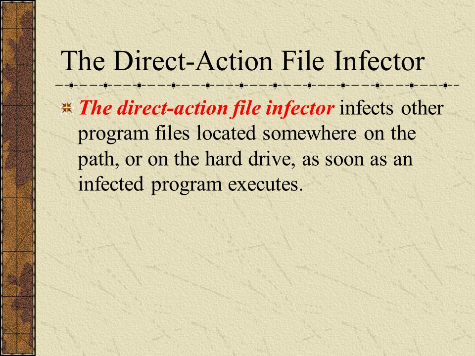 The Memory-Resident File Infector The memory-resident file infector loads itself into the computer's memory using a method similar to that used by the boot infecting viruses.