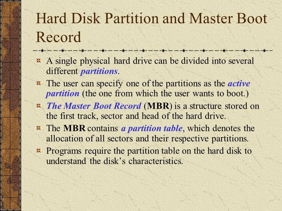 Boot Sequence from Uninfected Hard Drive -- (1) Stop