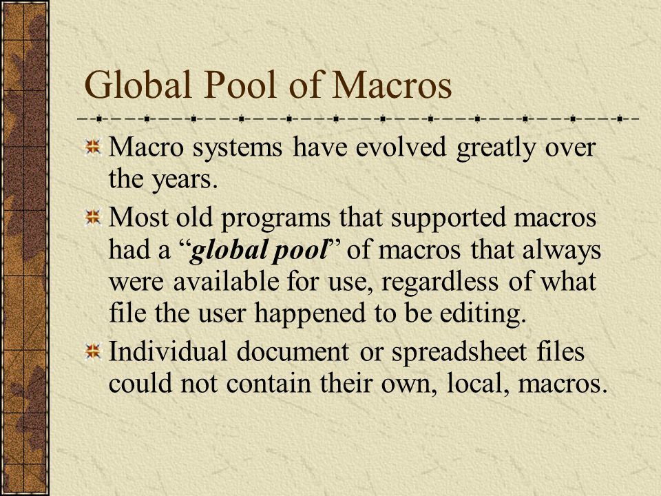 New Properties of Modern Macro System Modern macro systems differ from their predecessors in several key ways.