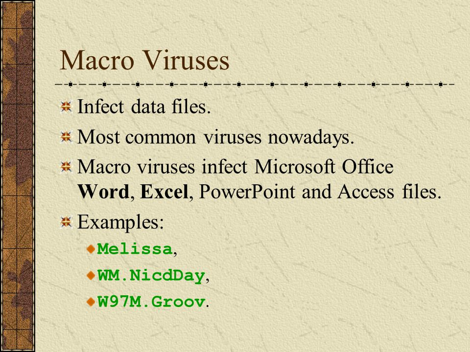Boot Sector Viruses