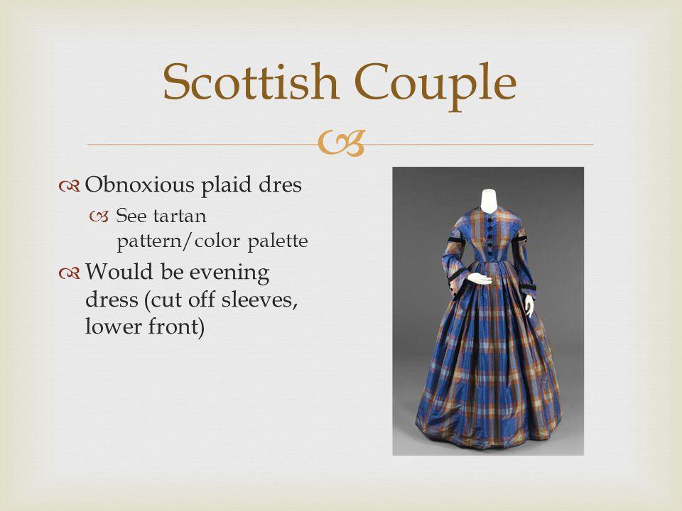  Scottish Couple  Wool muff/collar  Harkens to the Highlands  Bow closing collar – tartan pattern