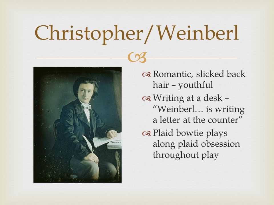  Christopher/Weinberl  Contrast between jacket and pants - youthful