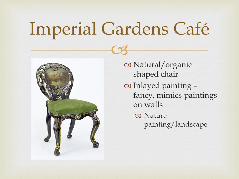  Imperial Gardens Café  Chinese screen mentioned in text  Lighter color  Antique but exact years not known