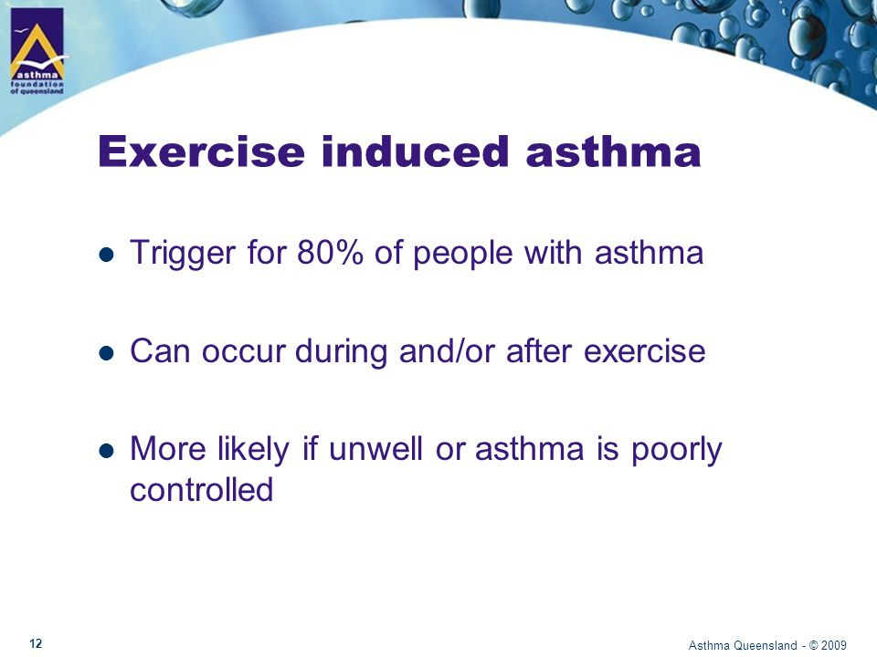 Exercise induced asthma: How do you know.