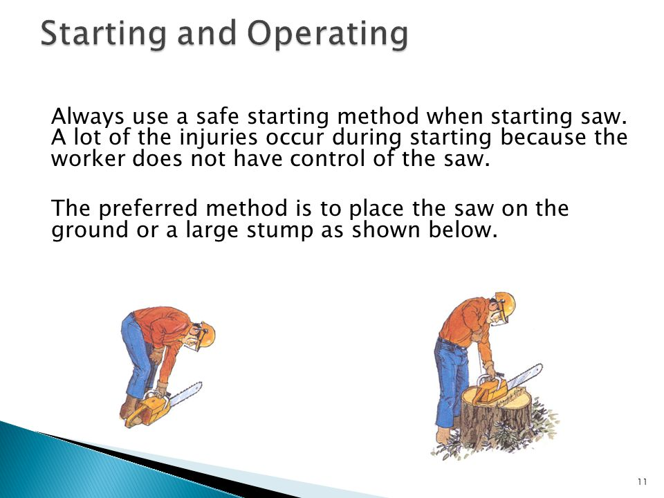 12 Do not use this method of starting.