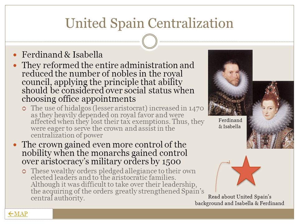 United Spain Administration The monarchy governed far regions with Corregidors, which were similar to the Justices of Peace in England.