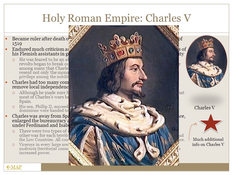 Holy Roman Empire: Government Finances:  The Habsburgs' constant wars increased the burden on Spaniards and was not equally distributed among provinces.