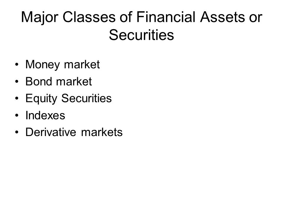 The Money Market A subsector of the fixed income market –Short-term debt securities –Highly marketable –Traded in large denominations –Out of reach of individual investors