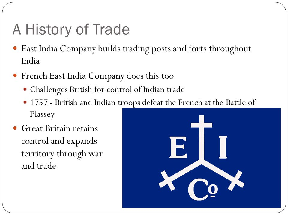 British Expansion in India East India Company controls most of India by 1857
