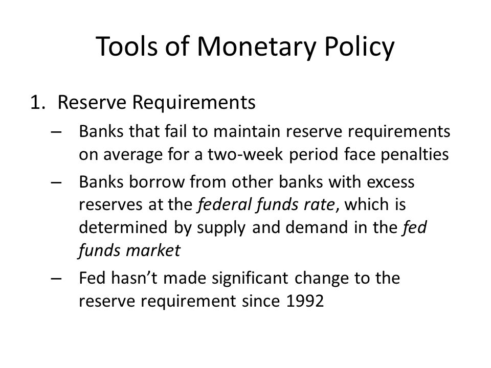 Copy and answer: How would changes to the reserve requirement tighten or loosen the money supply?
