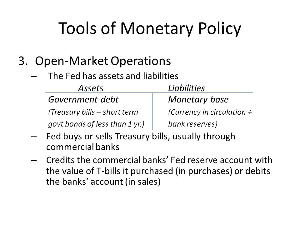 Copy and answer: How would open-market operations tighten or loosen the money supply?