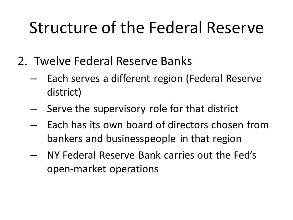 Copy and answer: Decisions about monetary policy are made by the Federal Open Market Committee, which consists of: the Board of Governors the New York Fed president Four other regional bank presidents (rotating) Why don't other members of the government serve on this committee.