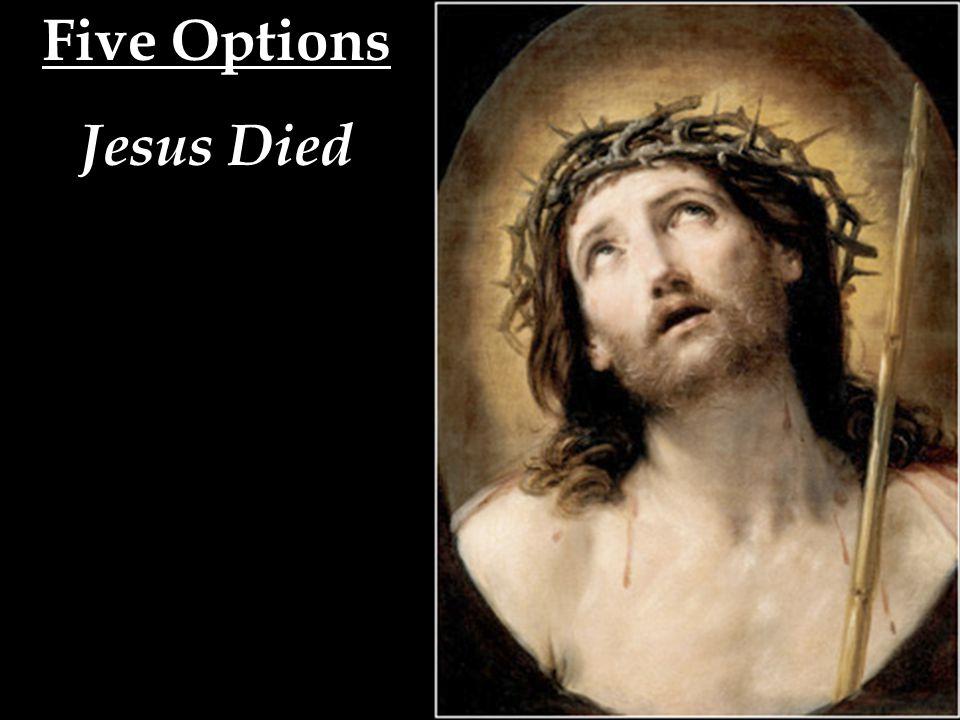 Five Options Jesus Died Jesus Rose --- (1) Biblical Christianity!