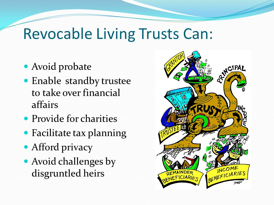 Estate Planning Bucket List Set up trusts in a will or during life that protect spouses or others who need trusteeship.