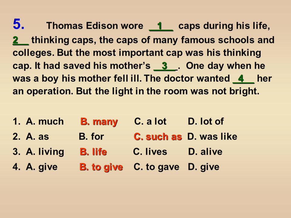 5 6 7 8 9 10 Edison quickly 5 his thinking cap and he found a way 6 his mother.
