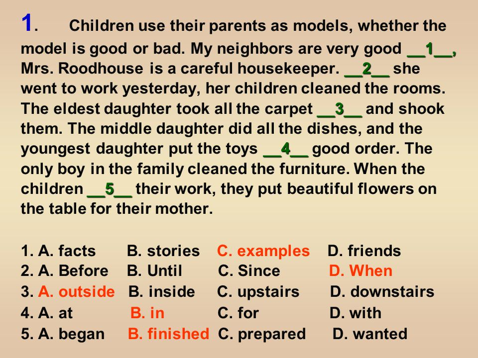 __6__ __7__.__8__ __9____10__ Mrs. Frowzier is a terrible housekeeper.