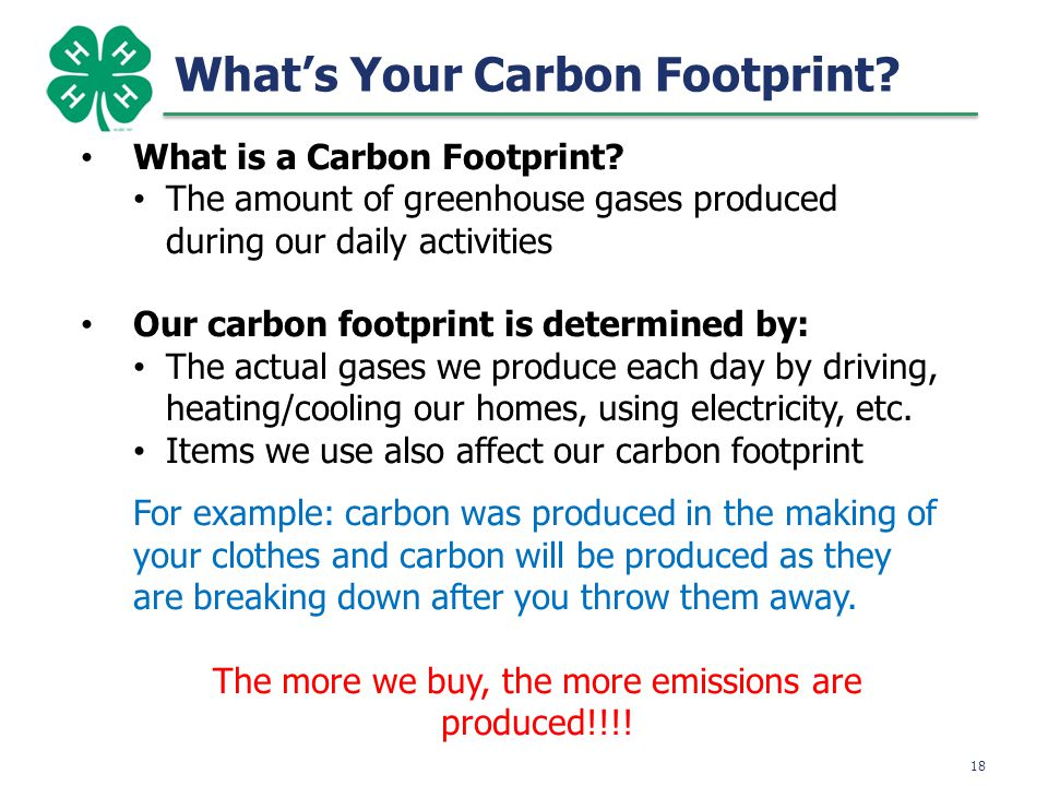 19 Calculating Your Carbon Footprint 11000 18 14666