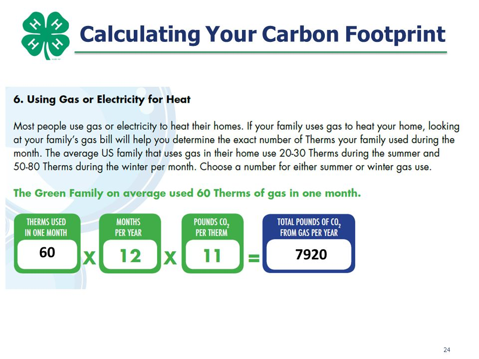 25 Calculating Your Carbon Footprint 0 0 0