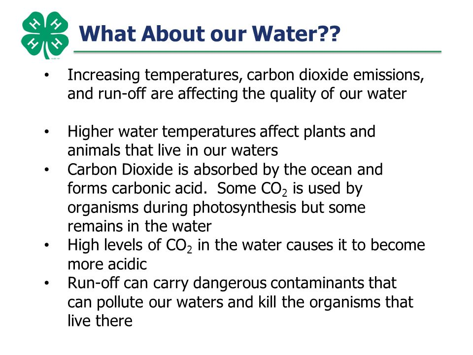 7 What does Carbonic Acid do to our Oceans.